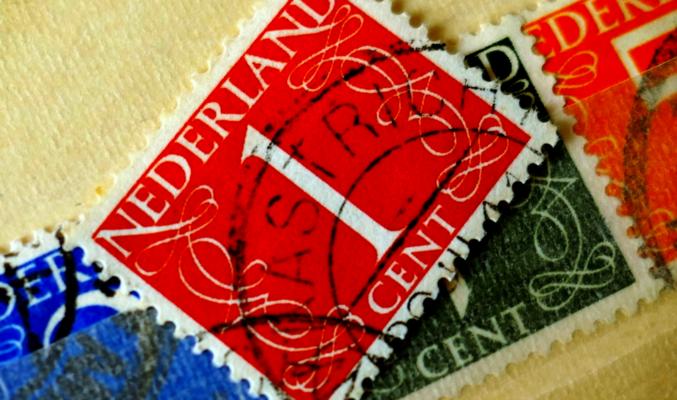 Pensioen, afscheid, postzegel